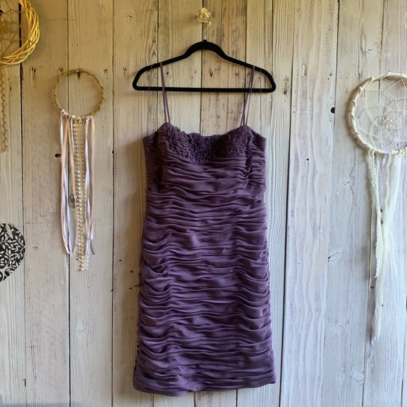 Adrianna Papell Dresses & Skirts - Adrianna Papell Violet Cocktail Dress 14 EUC
